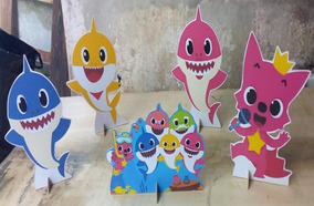 Kit Displays 6. Peças - Baby Shark