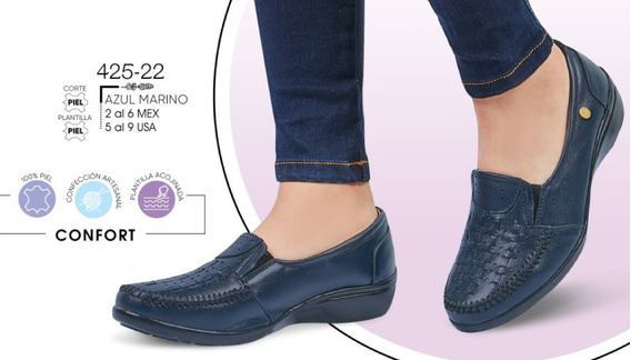Zapato Dama Azul Marino Mod. 425-22 Oi 2019