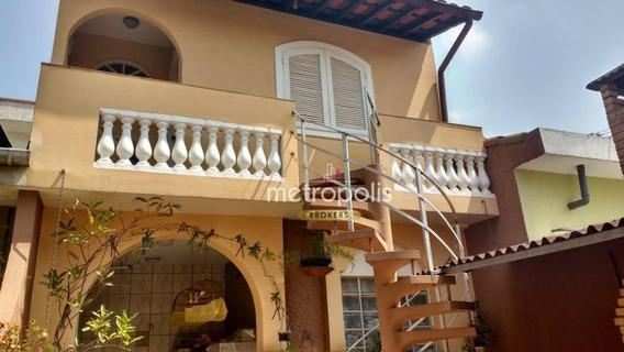 Sobrado Com 3 Dormitórios À Venda, 240 M² Por R$ 1.250.000 - Campestre - Santo André/sp - So0802