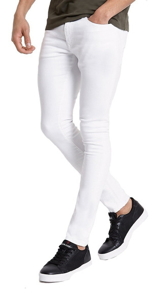 Jean Chupin Blanco Elastizado Maxima Calidad Pantalon