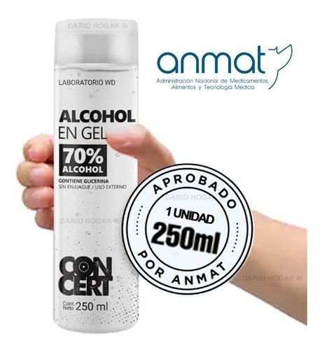 Imagen 1 de 8 de Alcohol En Gel De Manos Antibacterial Neutro Portatil 250 Ml