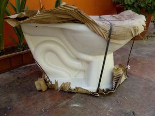 Taza Sanitaria, Terracota, Color: Blanco