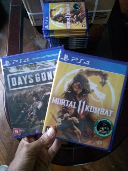Days Gone + Mortal Kombat 11 Ps4 Midia Fisica Lacrados