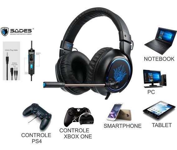 Acessório Ps4 Headphone Headset Fone De Ouvido Tablet/pc/ps4