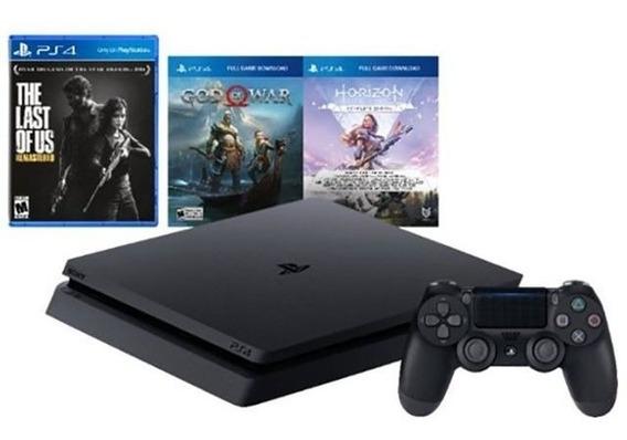 Sony Playstation 4 Ps4 1tb Cuh-2215b + 3 Jogos 12x