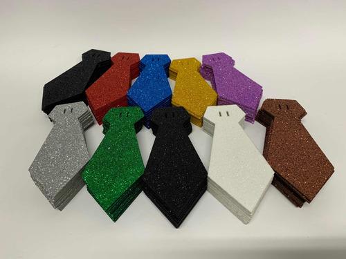 Imagem 1 de 10 de Gravatas Pet Glitter Kit Com 100  + 60 Metros De Fita Cetim