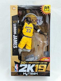 Lebron James La Lakers Nba Mcfarlane 2k19 My Team Figura