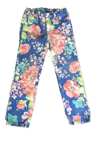 Jeans Floreado C&a Para Niña Talla 5-6 Años