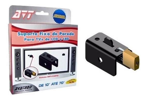 Kit 4 Suporte Tv Parede Universal Dispositivo Anti-furto