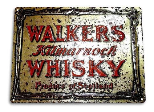 Rotulo Cuadro De Bar Walkers Kilmarnock Whisky 27x20cm Lp