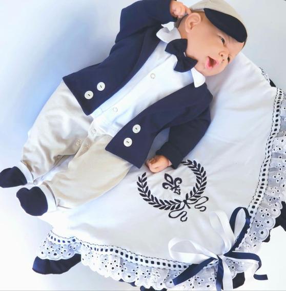 Saída De Maternidade Personalizada Menino Luxo