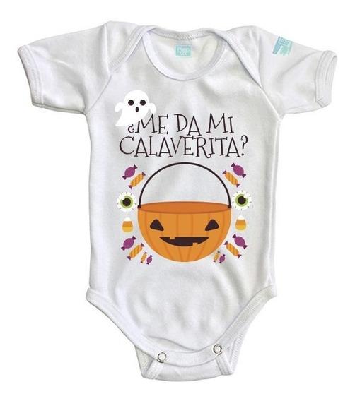 Pañalero Bebé Hallowen Me Da Mi Calaverita Body Ropa Baby