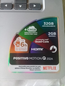Notebook Positivo Motion Q232a Quad Core 2gb 32gb Ssd