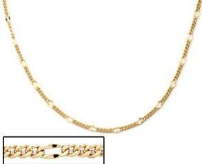 Corrente Masculina 5x1 Folheada Ouro Rommanel 60cm
