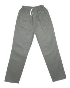 Calça Brim Profissional Cinza Ou Azul Promoção 100%algodão