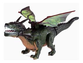 Brinquedo Dragao 45 Cm Que Bate Asas Anda Dinossauro