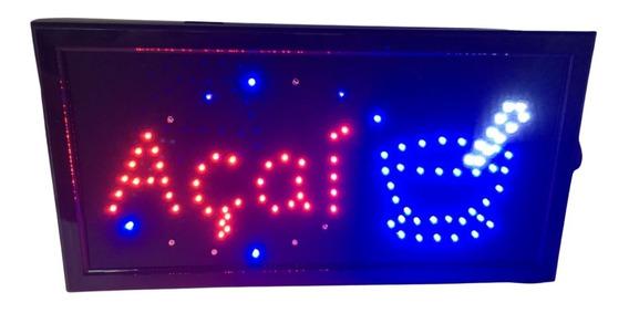 Placas Luminoso Quadro Led Letreiros Luminária Decoração J