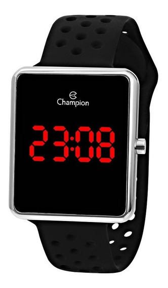 Relogio Unissex Esportivo Champion Ch40081t Digital Led