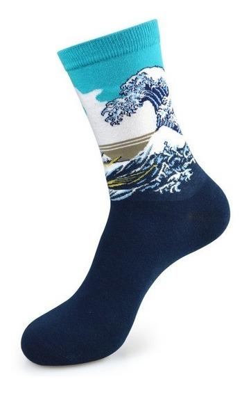 Calcetines Obra De Arte La Gran Ola De Kanawa