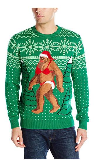 Christmas Ugly Sweater Suéter Feo Navidad Pie Grande Chico