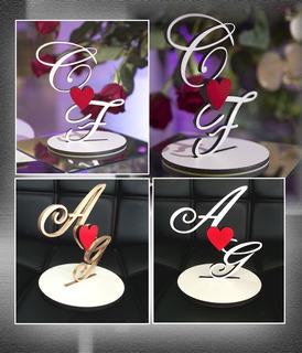 Topo De Bolo Efeite Decoração Casamento Noivos Noivado   Mdf