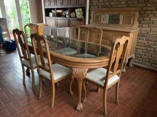 Mesa Y 6 Siilas Estilo Chippendale