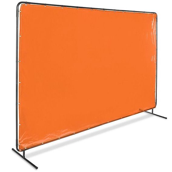 Pantalla De Acero Con Cortina Naranja Para Soldadura 182x304