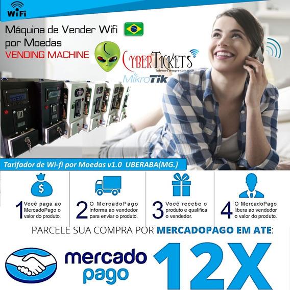 Máquina De Wifi Por Moeda C/ Relatorio De Vendas Via E-mail!