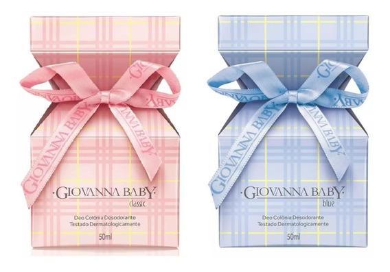 Deo Colônia Giovanna Baby Blue E Classic Rosa - 50ml