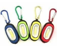 3 Mini Chaveiro Lanterna Portátil Led 3 Modos Pilhas Grátis