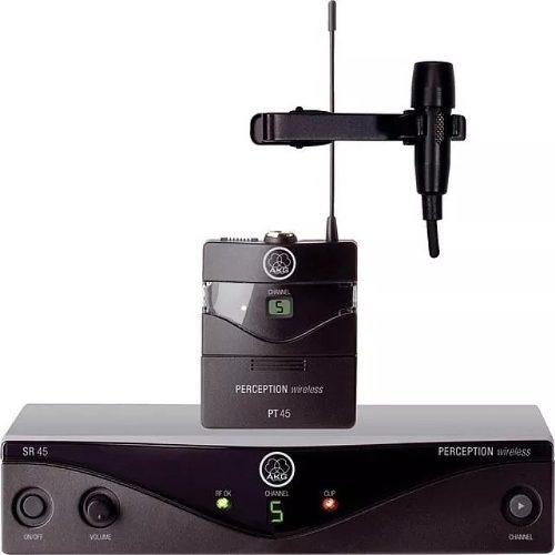 Microfone Lapela Sem Fio Akg Presenter Pt45 Sr45 Band-u2