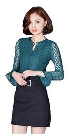 Blusa Camisa Feminina Elegante Social Chic Trabalho