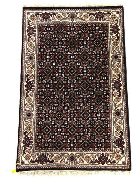 Tapete Persa Tabriz Mahi 90x60cm Legitimo Artesanal Handmade