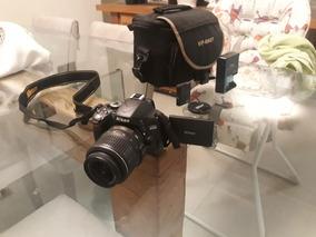 Nikon D5100 Usada - Otimo Estado - Com Acessórios Bolsa.