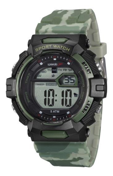 Relógio Speedo Camuflado Cronometro Alarme 50mm 81191g0evnp2