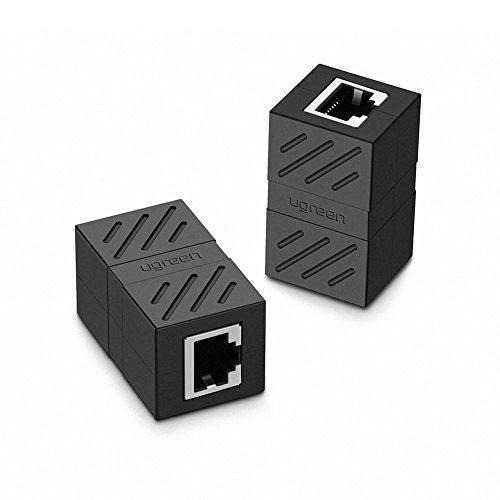 Imagen 1 de 7 de Ugreen Rj45 Coupler 2 Pack En Acoplador De Linea Cat7 Cat6 C