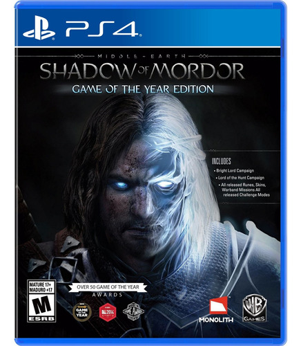 Imagen 1 de 7 de Middle-earth: Shadow Of Mordor Goty Físico Ps4 Original