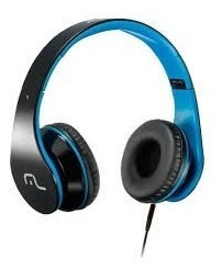 Headphone Multilaser Com Microfone Para Celular Azul Ph113
