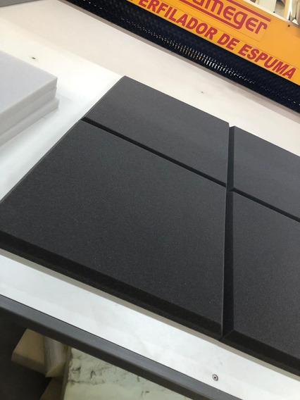 Espuma Acústica Kit C/3 Placas 65cm X 65cm X 3cm Anti Chama
