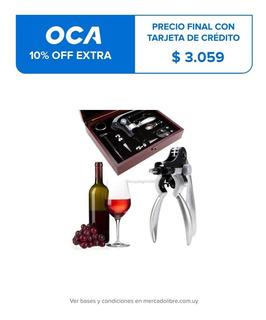 9pzas Botella De Vino Abridor Accesorios Estuche, Vertedor