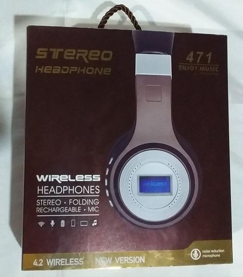 Fone De Ouvido Wireless Bluetooth, Fm, Entrada Micro Sd.