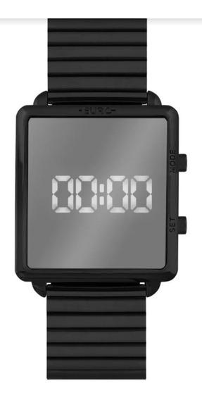 Relógio Feminino Digital Preto Espelho Euro Eujhs31bai/4p