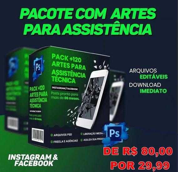 130 Art Editavel Assistência Técnica, Celular Editavel Psd