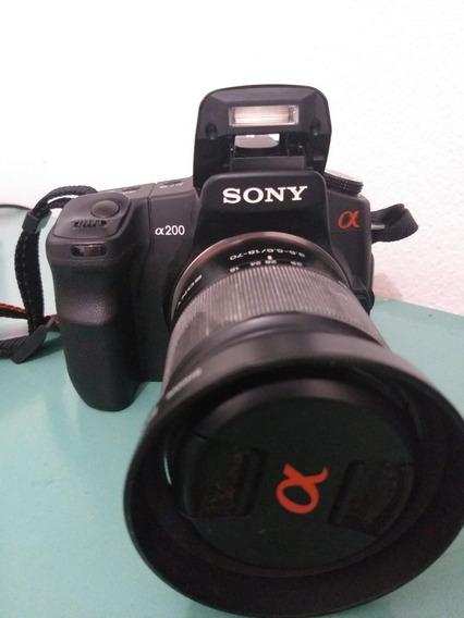 Câmera Fotográfica Profissional Sony A200 + Kit/lente 18-70