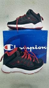 Tenis Deportivo Champion Para Hombre Talla 5 1/2 Negro/rojo