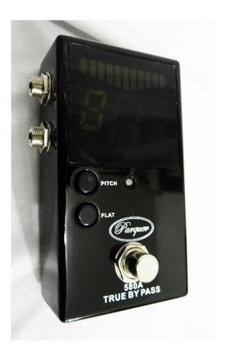 Pedal Afinador Cromatico Parquer True By Pass Guitarra Bajo