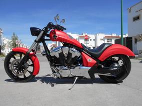 Honda Fury Vtx 1300cc 2012 Chopper Baron Rojo Como Nueva