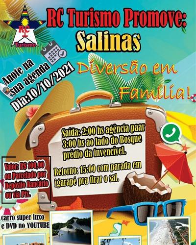 Imagem 1 de 1 de Passeio Regional P/ Salinas. Incluso: Viagem Em Ônibus Dd.