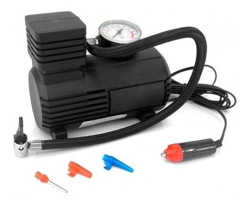 Imagen 1 de 8 de Mini Compresor 12v 300psi Inflador Con Medidor De Presion