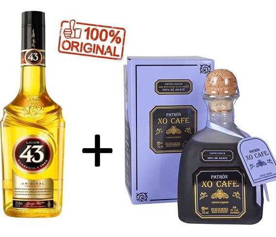 Kit Licor 43 700ml + Tequila Patron Xo Café 750ml